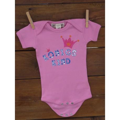 """Geschenkset Baby-Body """"Du bist ein Königskind"""" - rosa"""