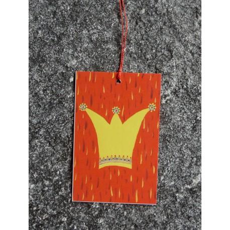 """Mini-Karte """"Du bist ein Königskind"""" als Anhänger"""