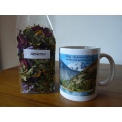 """Teetasse """"Ich schaue auf zu den Bergen"""""""