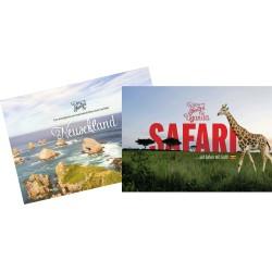 """Aufstellkalender """"Neusehland"""" und """"Safari mit Gott"""""""