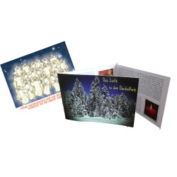 """Bild und Textkarten """"Weihnachten"""" und """"Licht in der Dunkelheit"""""""