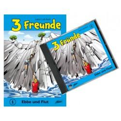 Drei Freunde - Ebbe und Flut, Set Buch + Hörspiel-CD