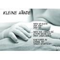 """Bild- und Textkarte """"Geburt"""" - kleine Hände"""