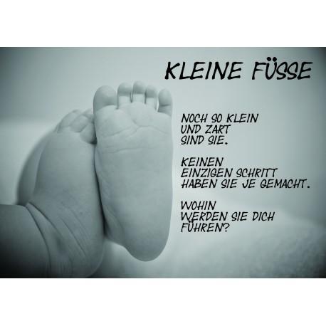 """Bild- und Textkarte """"Geburt"""" - kleine Füsse"""