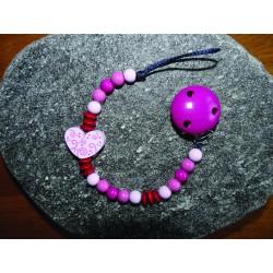 """Geschenkset: Nuggikette rosa mit Mini-Karte """"Du bist geliebt"""" und Geschenksverpackung"""